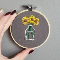 CACTUS & PLANT EMBROIDERY Hoop 3 inch  Flowers  Gardening