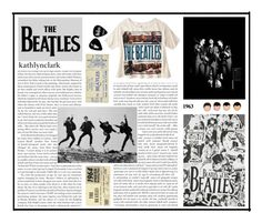 """""""204: Beatles Band Tee."""" by kathlynclark ❤ liked on Polyvore featuring art, thebeatles, bandtshirt, bandtee and ComeTogether"""