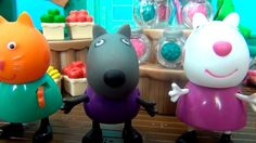 Peppa Pig en español. Peppa y sus amigos están jugando en la tienda. Pep...