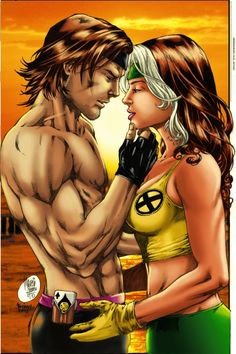 Gambit and Rogue,one of my favourite couple from Comics by Troianocomics.deviantart.com on @deviantART