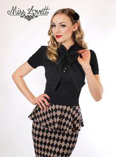 MIRANDA_02 Peplum pencil skirt HARLEQUIN by MissLovettClothing