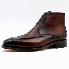 Genuine Leather Brown Handmade Shoes - Exclusive Men's World Ankle Shoes, Men's Shoes, Shoe Boots, Dress Shoes, Shoes Men, Leather Gloves, Leather Wallet, Leather Bag, Gentleman Shoes