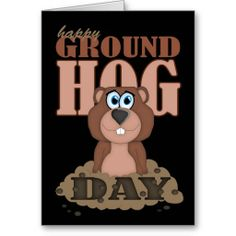 Shop Groundhog Day With Cute Cartoon Groundhog Card created by moonlake. Personalize it with photos & text or purchase as is! Thank You Greeting Cards, Thank You Greetings, Custom Greeting Cards, Holiday Images, Holiday Cards, Christmas Cards, Groundhog Pictures, Happy Groundhog Day, Good Morning Picture