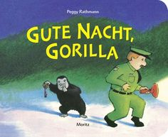 """Eine Gute-Nacht-Geschichte, die fast ohne Worte auskommt und nur mit der Kraft von Bildern bestens unterhält: Dass das funktioniert, beweist Peggy Rathmann mit ihrem Bilderbuch """"Gute Nacht, Gorilla!"""". Der kleine Gorilla stibitzt dem Zoowärter den Schlüssel und es beginnt ein ziemlich außergewöhnlicher abendlicher Rundgang durch den Zoo…"""