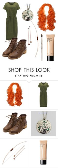 """""""Merida costume"""" by abbyluellen on Polyvore featuring Merida, Bobbi Brown Cosmetics, Topshop and plus size dresses"""