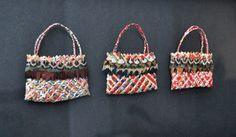Anna Gedson Kura Gallery Maori Art Design New Zealand Aotearoa Weaving Framed Three Coloured Kete
