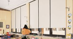 Child-friendly commercial window shades are a great choice for classrooms and places where children are present.