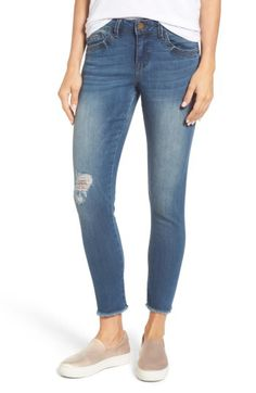Wit & Wisdom PARKER SMITH Seamless Distressed Skinny Jeans available at #Nordstrom