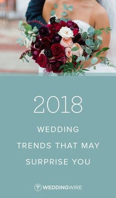 The 2018 Wedding Trends That May Surprise You - Calling all 2018 couples! From rich hues to macramé details, see all of our favorite 2018 wedding trends on WeddingWire! {Sarah Bradshaw Photography}