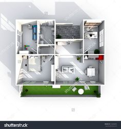Find Interior Rendering Plan View Furnished stock images in HD and millions of other royalty-free stock photos, illustrations and vectors in the Shutterstock collection. Interior Rendering, Bathroom Medicine Cabinet, 3 D, Royalty Free Stock Photos, Shelves, How To Plan, Home Decor, Shelving, Decoration Home