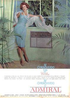 Propaganda do aparelho de ar-condicionado Admiral apresentado nos anos 60.