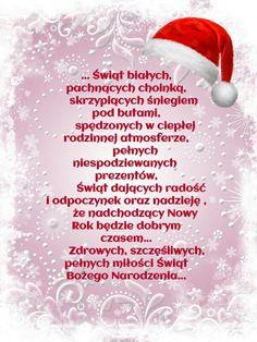 Kartka świąteczna 🌲💟🌲💟🌲💟🌲💟🌲💟🌲 Merry Christmas, Xmas, Christmas Ideas, Motto, Winter, Wish, Writing, Words, Tattoo Drawings