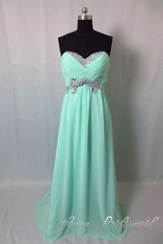 108.00$  Watch here - http://viorp.justgood.pw/vig/item.php?t=8mafw551724 - Mint Sweetheart Prom Dress, Floor Length Chiffon Prom Dress, Long Evening Dress