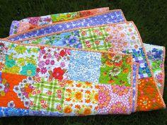 vintage fabric quilt