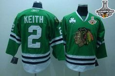 Blackhawks #2 Duncan Keith Embroidered Green Stanley Cup Champions NHL Jersey