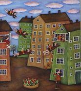Gallery 3 - Sonja Lehto, naivistisia maalauksia,päivähoitopaikka