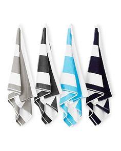 Hudson Park Collection - Westport Stripe Beach Towel - 100% Exclusive Hudson Park, Pool Towels, Beach Towel, Collection