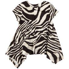 Roberto Cavalli Kids - Zebra striped viscose jersey T-shirt - 26903
