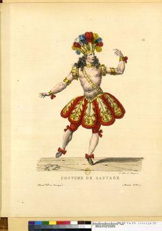 Lecomte, Hippolyte (1781-1857). Costume de sauvage (Académie Royale de Musique, année 1725).