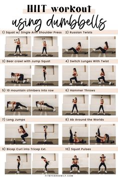 35-Minute Full-Body HIIT Workouts With Weights