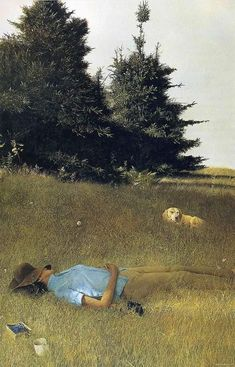Andrew Wyeth 'Distant Thunder' - Andrew Newell Wyeth was a visual artist… Jamie Wyeth, Andrew Wyeth Paintings, Andrew Wyeth Art, Mary Cassatt, Dog Art, American Artists, Les Oeuvres, Art Photography, Travel Photography