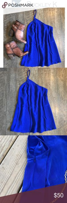 Buckley K Dauphine One Shoulder Cobalt Blue Top Buckley K Buckley K Tops