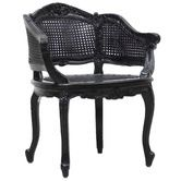 Temple & Webster - French WHITE Provincial Marcella Bergere Chair