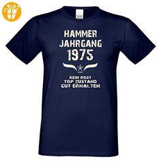 Geschenk zum 42. Geburtstag : Hammer Jahrgang 1975 : Geschenkidee Geburtstagsgeschenk für Ihn - Herren Männer Kurzarm T-Shirt Geschenkset Farbe: navy-blau Gr: XXL (*Partner-Link)