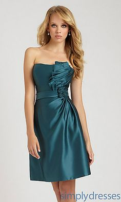 Pleated Bodice Dress by Allure Bridesmaid at SimplyDresses.com