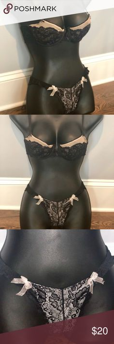 Other Women's Intimates Conscientious 1 Neglige Thong Set.