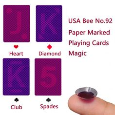 75606c812080 USA Bee No.92 Paper Marked Playing Cards Magic to win poker game Poker Games