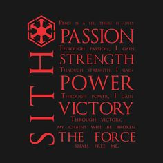 Shop The Sith Code star wars t-shirts designed by NevermoreShirts as well as other star wars merchandise at TeePublic. Star Wars Trivia, Star Wars Facts, Sith Tattoo, Star Wars Tattoo, Dc Comics, The Dark Side, Star Wars Painting, Star Wars The Old, Star Wars Sith