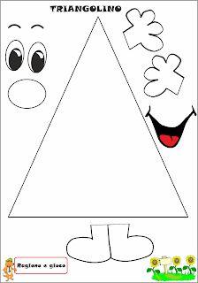A Scuola con Poldo: Triangolino Shape Activities Kindergarten, Preschool Classroom, Preschool Worksheets, Preschool Learning, Learning Activities, Preschool Activities, Teaching Kids, Math For Kids, Crafts For Kids