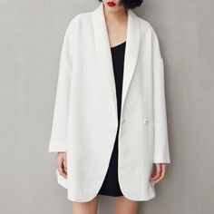 White oversized blazer Brand new. Have black Blazers? Now it's time to have a white one. White blazer, jeans and sneakers are must haves this season. Size S. Length 81cm chest 104cm sleeve 45.6 Fantansy  Jackets & Coats Blazers