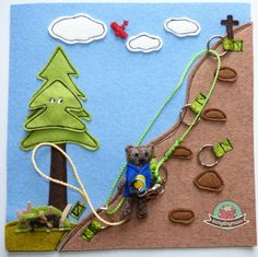 Teddy the climber - outdoor inspired quiet book