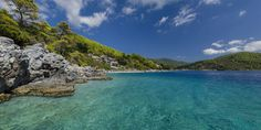 """Skopelos ~ """"The Green and Blue Island"""" ... is a Greek island in the western Aegean Sea and one of several islands which comprise the Northern Sporades island group, which lies east of the Pelion peninsula on the mainland and north of the island of Euboea. #skopelos #island #greece #likenoother #destination"""