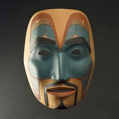 Phil Gray - Ts'msyen portrait mask. @cargocultist
