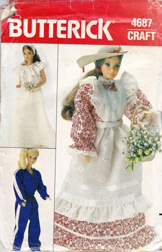 Barbie Dolls Clothes Sewing Pattern door allthepreciousthings