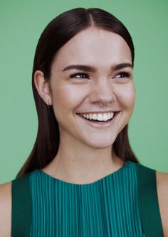 Maia Mitchell – Oyster Magazine 106 The Freedom Issue Maia Mitchell, Pretty People, Beautiful People, Cute Nose Piercings, The Fosters, Face Expressions, Piercing Tattoo, Famous Faces, Pretty Face