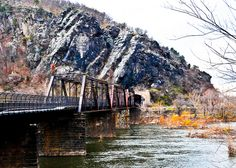 Baltimore and Ohio (B) Railroad Crossing Bridge at the Potomac River  at Harpers Ferry West Virginia by mbell1975, via Flickr
