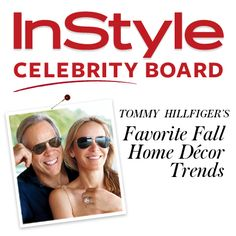 """""""Dee and I love to entertain so creating rooms that feel warm and welcoming is important to us. This Fall, we're inspired by classic, autumnal colors in jewel tones: burgundy, midnight navy, dijon and forest. I like to use art or great vintage accent pieces to add a pop of color to a room!"""" — Tommy Hilfiger"""