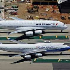 boeing 747 Airbus A380 dois gigantes
