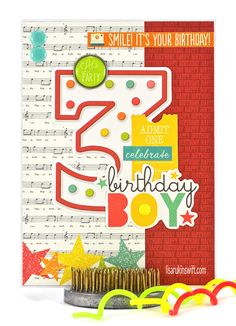 Card Share: Celebrate, Birthday Boy (Simple Stories Let's Party)