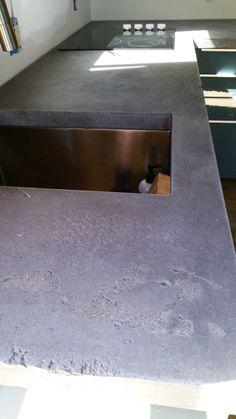 Portfolio of Indoor and Outdoor Concrete Countertops - RockMill Concrete Countertops, Architectural Elements, Indoor, Diy Crafts, Architecture, Texture, Interior, Arquitetura, Surface Finish