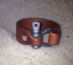 Anchor Shackle Leather Bracelet by Anchor by AnchorLeatherCo, $22.00