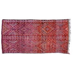 Vintage Moroccan Carpet | From a unique collection of antique and modern moroccan and north african rugs at http://www.1stdibs.com/furniture/rugs-carpets/moroccan-rugs/