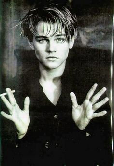 Young Leonardo DiCaprio, back in his Titanic days when he was so cute.