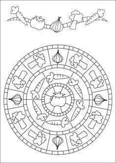 Disegni da Colorare Mandalas 84