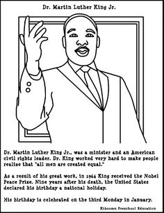 dr martin luther king jr coloring page - Martin Luther King Jr Coloring Pages