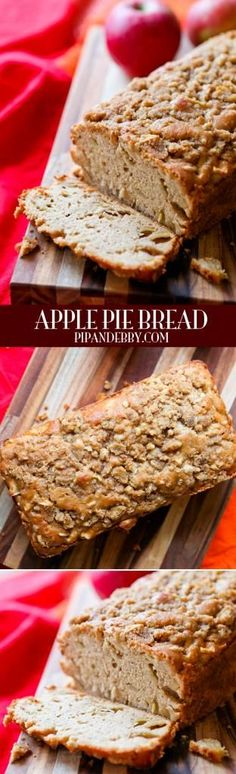 Fun for kids to make and it really does taste like apple pie. Apple Pie Bread - you have just found your new favorite bread. BEST BREAD EVER. Apple Desserts, Apple Recipes, No Bake Desserts, Fall Recipes, Just Desserts, Bread Recipes, Delicious Desserts, Dessert Recipes, Cooking Recipes